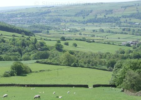 Aire valley from Brunthwaite Crag, above Silsden