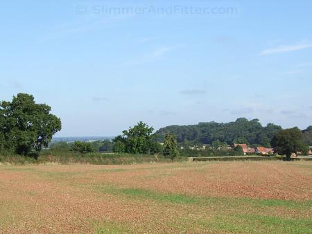 Blue sky in Warwickshire