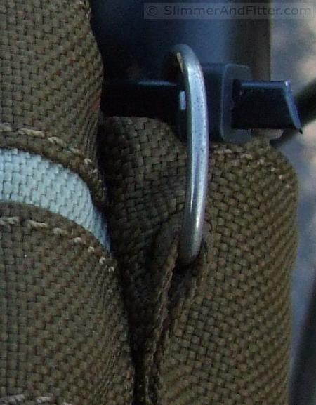 Camera bag close-up, Macro mode