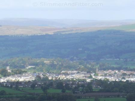 Clitheroe from Nick o'Pendle