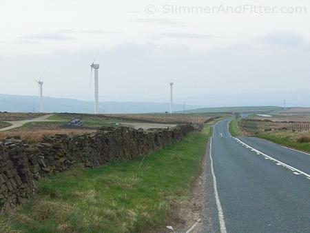 Coal Clough Windfarm and The Long Causeway