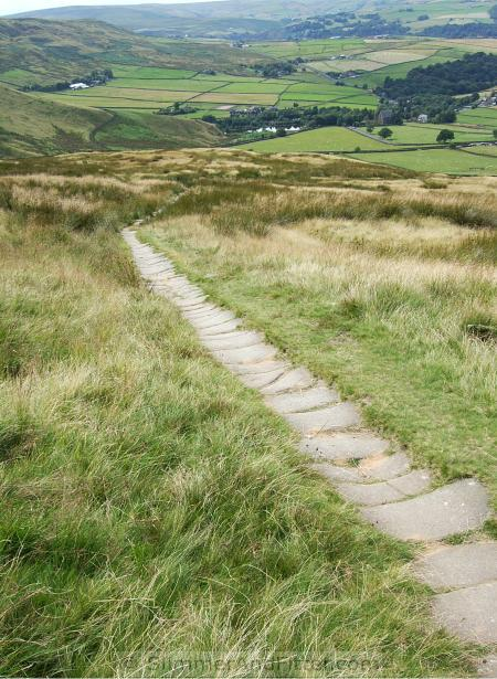 Cobbled bridleway to Mankinholes