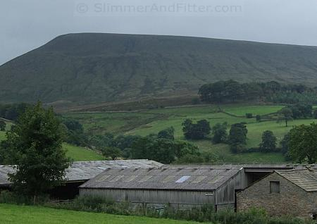 Gloomy view of Pendle Hill