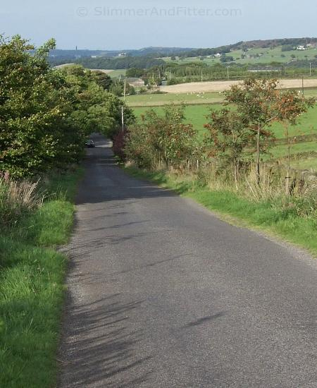 Looking down a lane above Ripponden