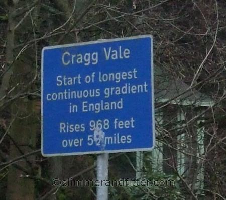 Longest continuous gradient in England sign
