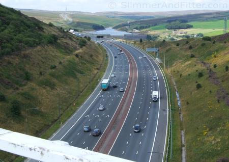 M62 looking west to Windy Hill