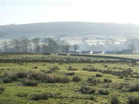 Oxenhope in winter sunshine