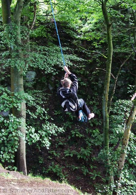 Rope swing, Nutclough Wood