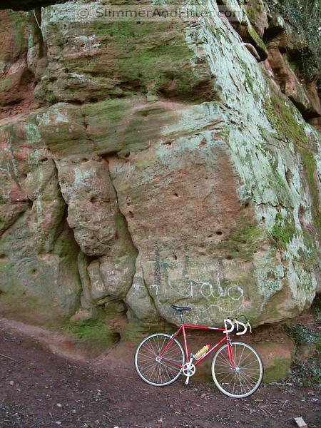 Singlespeed bike at Corley rocks