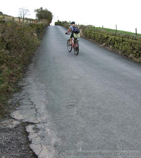 Steep climb of Crossley New Road