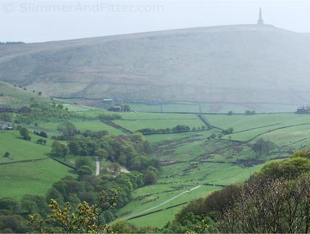 Stoodley Pike from Jumble Hole Clough