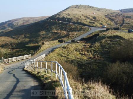 Steep climb at Thursden