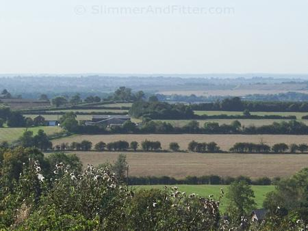 Rural view from hill above Priors Marston