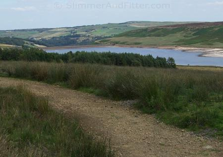 Withens Clough Reservoir from bridleway