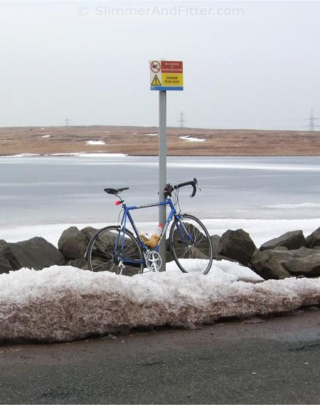 Basso and a frozen reservoir