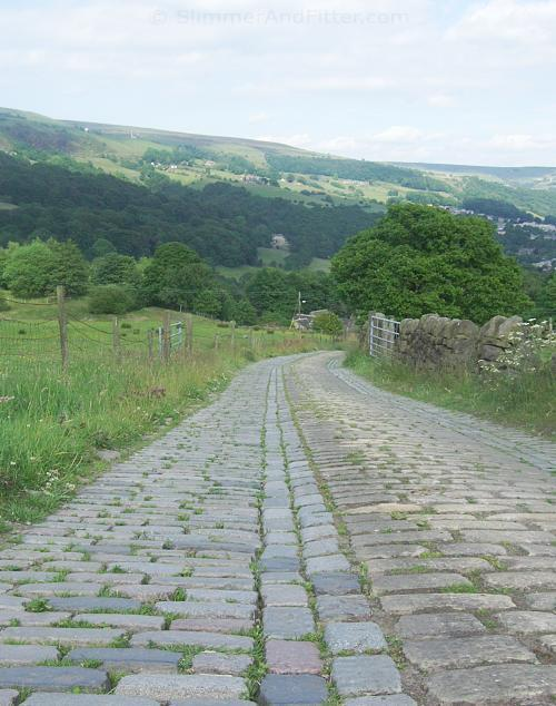 Cobbled lane, Hebden Bridge