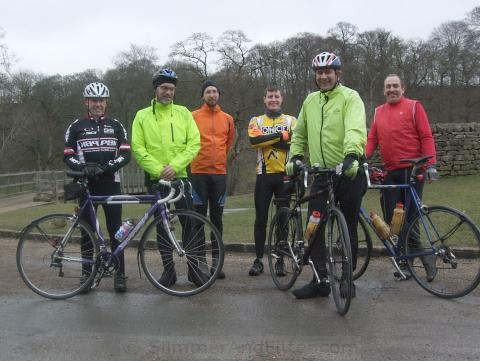 CycleChatters, L-R: colly, ColinJ, Bokonon, longers, andyfromotley, zacklaws