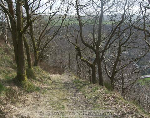Footpath from Heptonstall Quarry