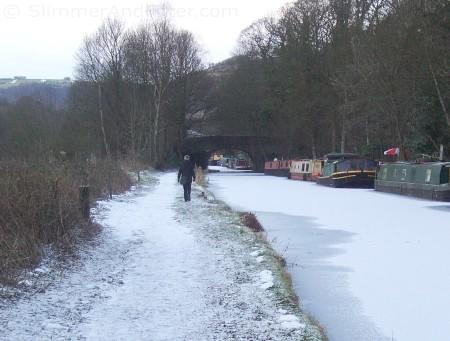 Frozen Rochdale canal