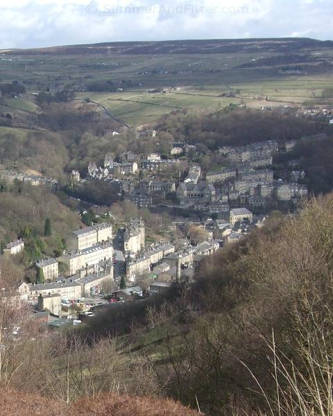Hebden Bridge from Horsehold seat