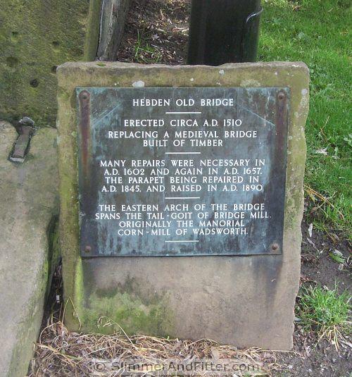 Hebden Old Bridge sign