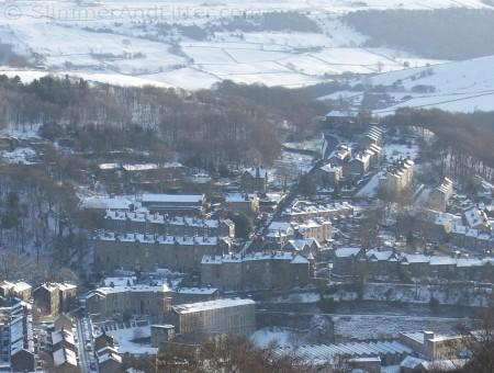 North Hebden Bridge, winter, from Heptonstall