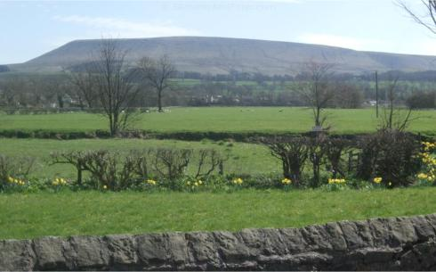 Pendle Hill from Sawley