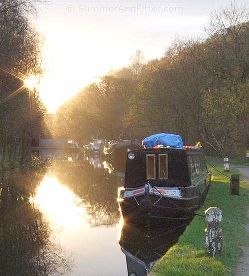 Rochdale canal sunset