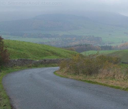 Steep descent to Whitewell