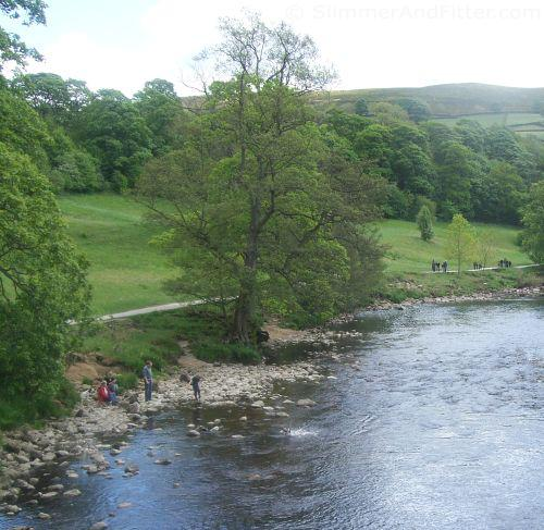 The River Wharfe from the bridge at Cavendish Pavilion