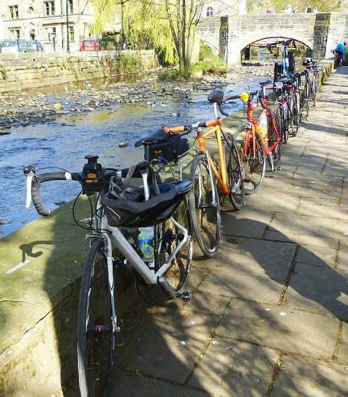 Bike parking by the river