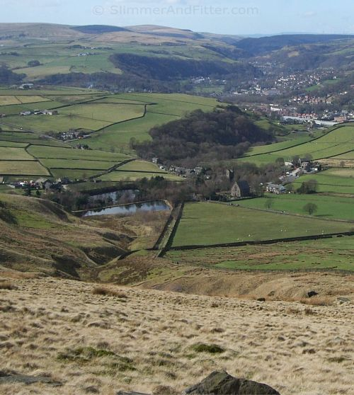 Lumbutts and Todmorden from Langfield Common